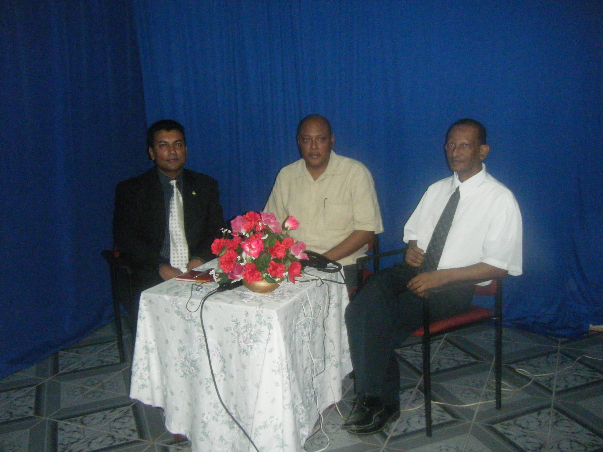 rapheal-trotman-pradeep-bachan-and-peter-ramsaroop-host-a-live-tv-show-in-region-6-berbice